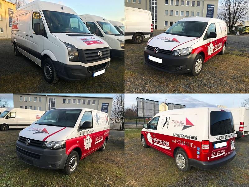 vier verfügbare transporter modelle
